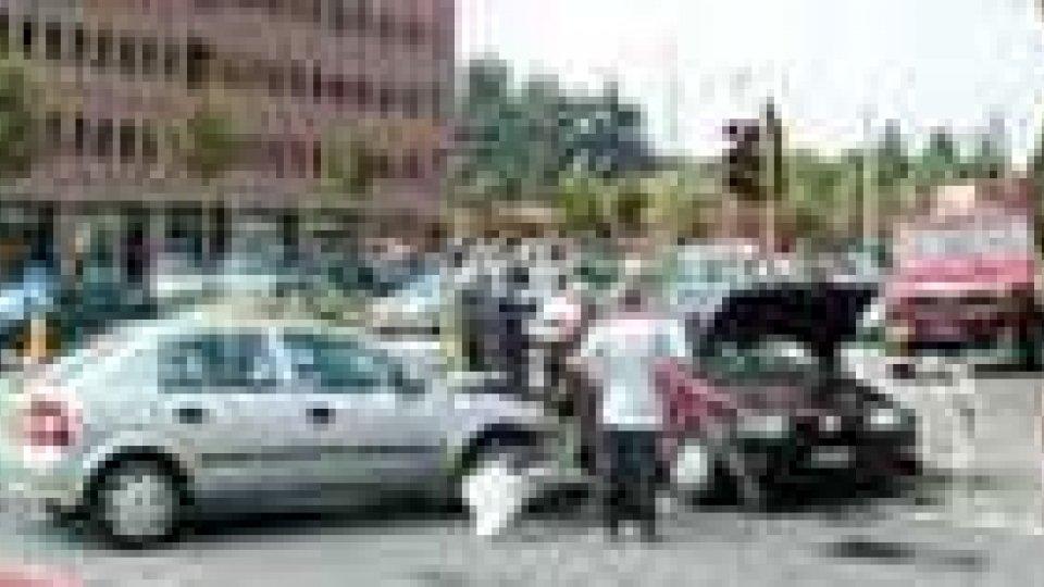 Incidente automobilistico a Dogana