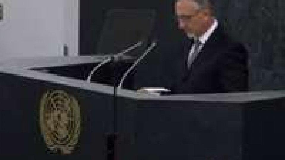 Onu: il discorso pronunciato da Valentini davanti all'AssembleaOnu: il discorso pronunciato da Valentini davanti all'Assemblea