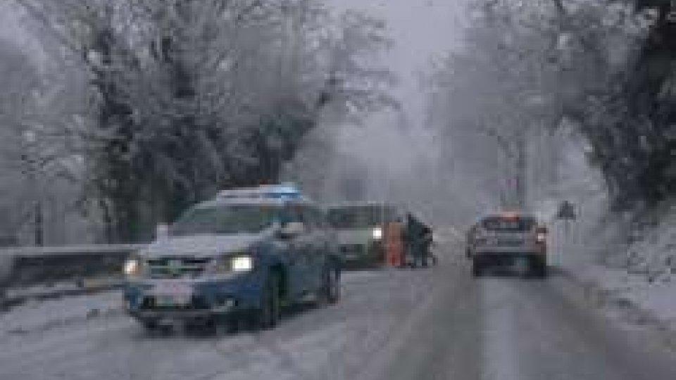Neve nelle MarcheNeve: a San Marino gestione ordinaria delle precipitazioni
