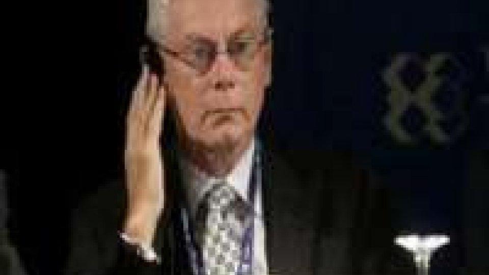 """Van Rompuy: """"Fiducioso che Italia resti membro stabile UE"""""""