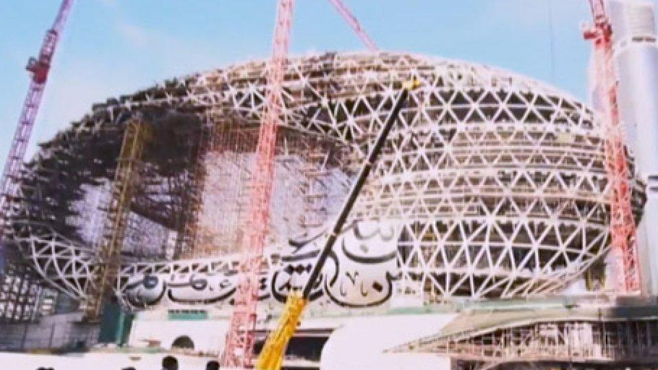 La struttura in costruzioneDubai: apre nel 2020 il Museum of the Future