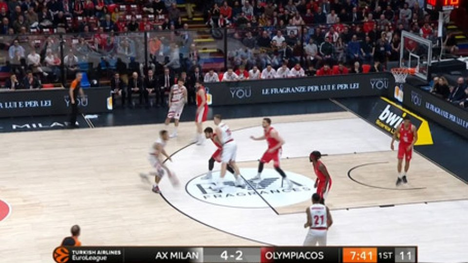Milano OlympiacosEurolega, per Milano contro l'Olympiacos è una vittoria da play off