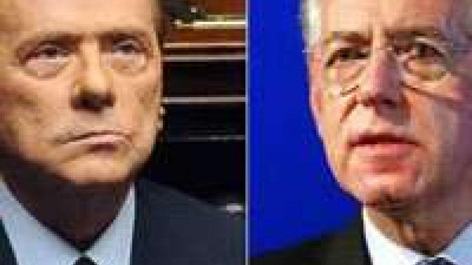 Scontro aperto tra Silvio Berlusconi e Mario Monti