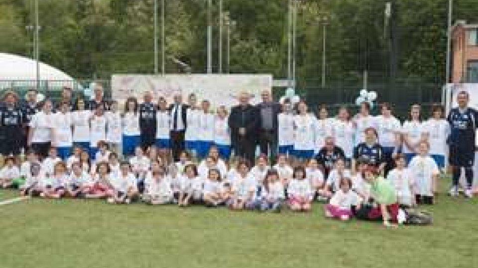 Settore giovanile del calcio femminile in campo