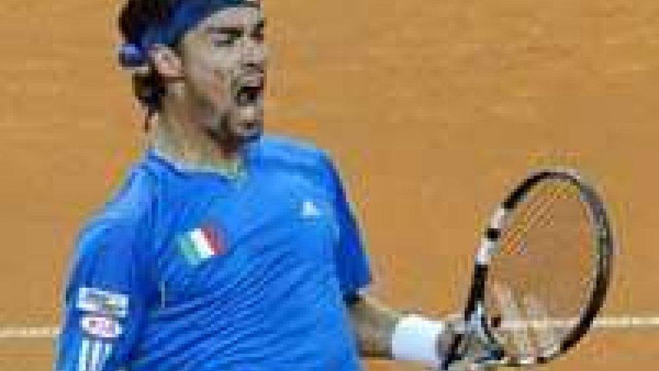 Coppa Davis: Fognini batte Murray, Italia-Gran Bretagna 2-2