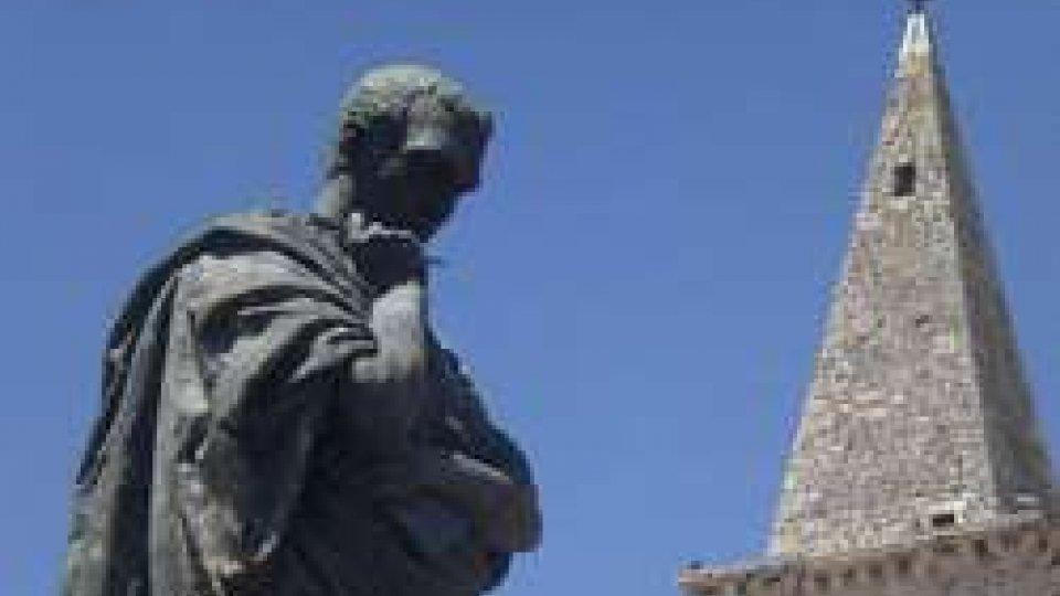 Renato Di Nubila a Sulmona, in vista del gemellaggio con Serravalle