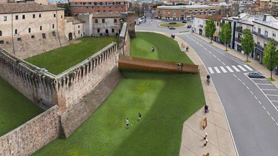 Il nuovo lato ovest di Castel SismondoMuseo Fellini: approvato lo stralcio dei lavori di riqualificazione di Castel Sismondo