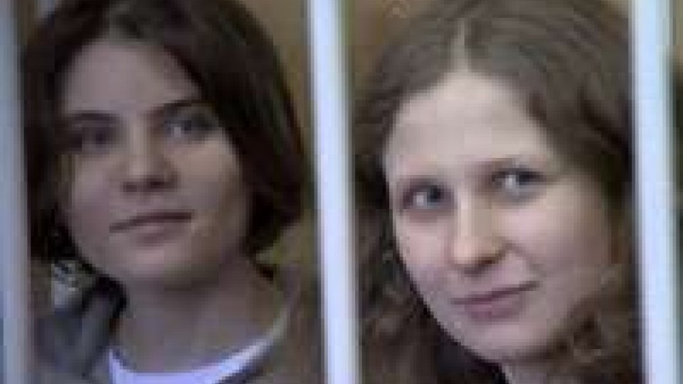 """Le """"Pussy Riot"""" a processo a MoscaLe """"Pussy Riot"""" a processo a Msca"""