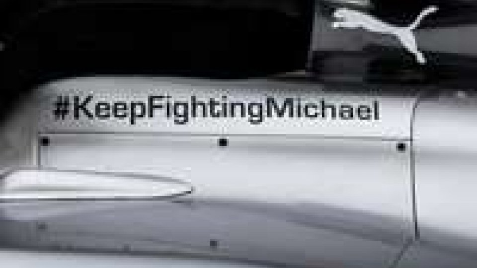 ''We have a very special message on our car this week in Jerez. Join the support #KeepFightingMichael'