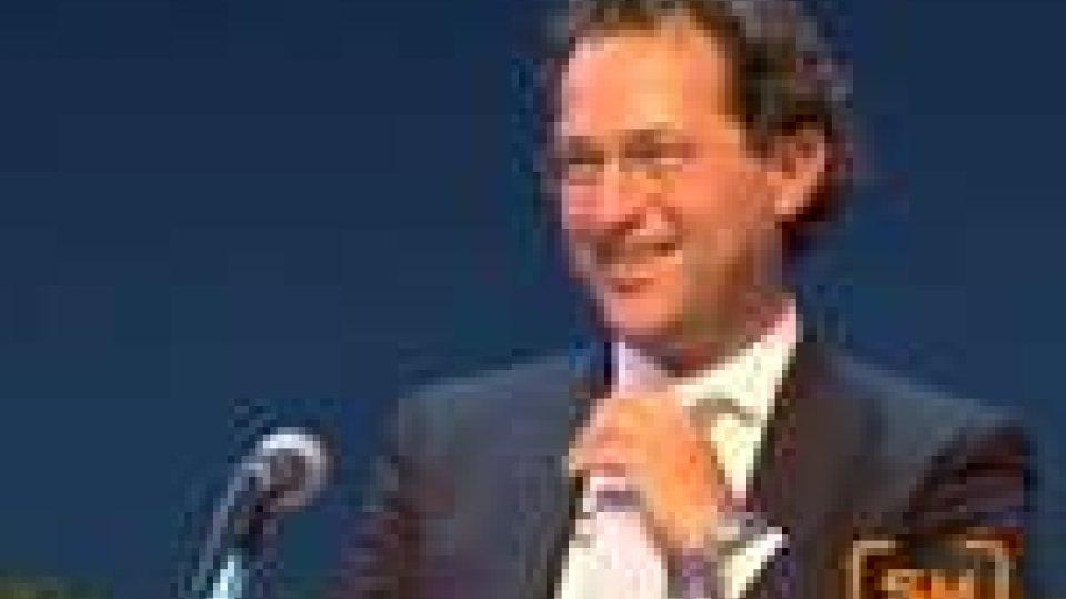 San Marino - Arzilli sul palco del Meeting parla di parco scientifico e tecnologico