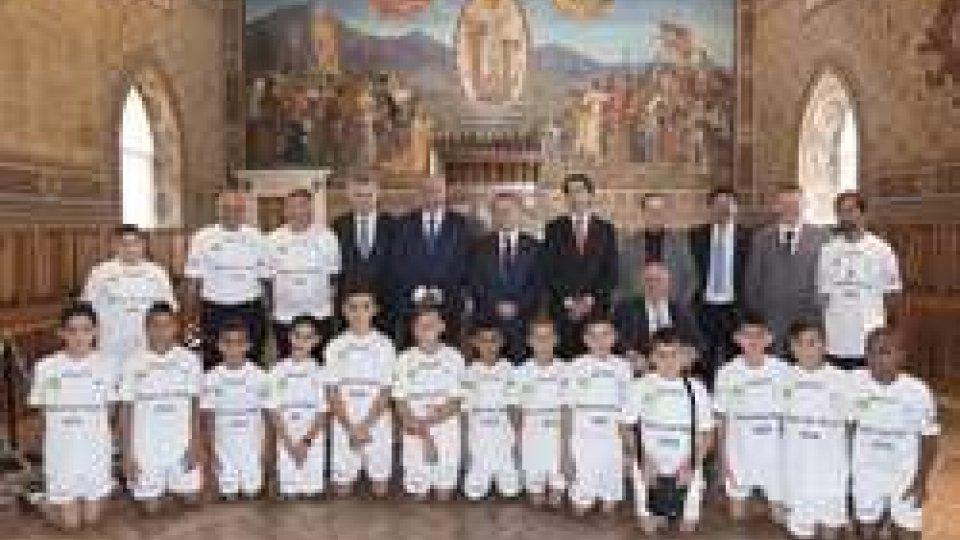 """l'Udienza dalla Reggenza""""Un calcio per la Pace"""", il nuovo progetto targato Federcalcio sammarinese"""