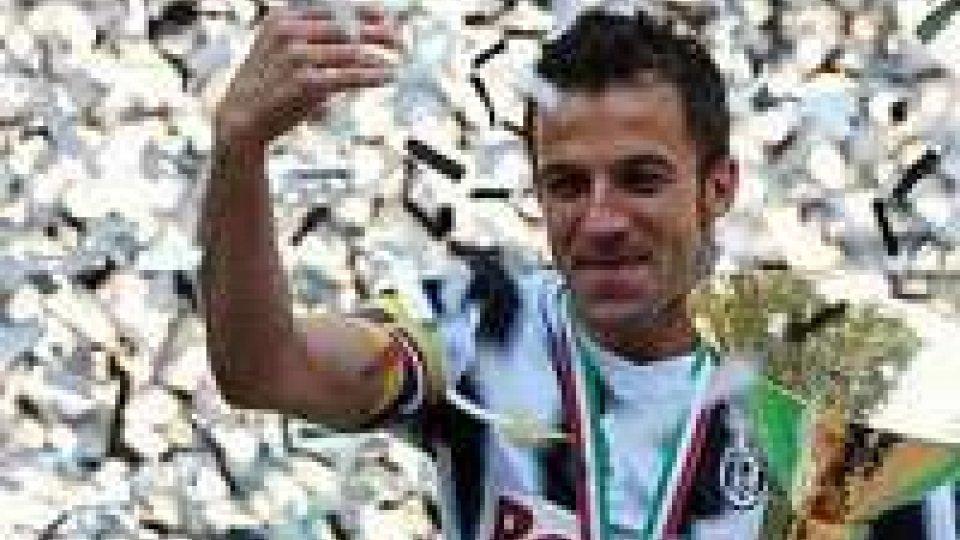 La Juve festeggia e saluta Del Piero