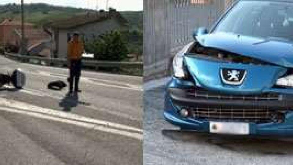 San Marino - Incidente a Gualdicciolo, motociclista al Bufalini