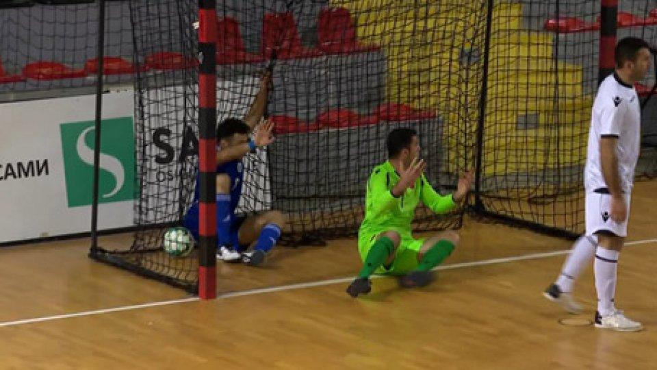 La rete annullata a StolfiFutsal, qualificazioni mondiali: Albania-San Marino 5-0