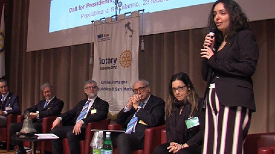 Al microfono Maddalena MuccioliIl progetto del Rotary contro lo spreco alimentare