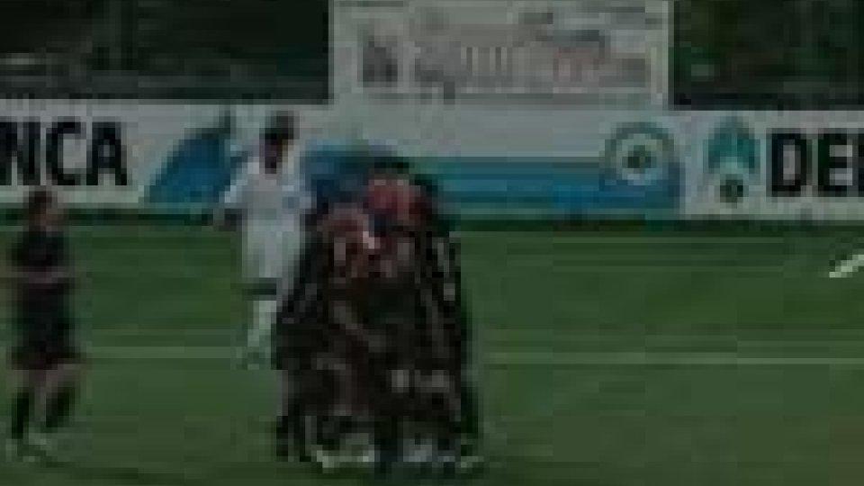 Esultanza dopo l'1-0Sconfitta per la Juvenes/Dogana ma record di ascolti per la diretta web