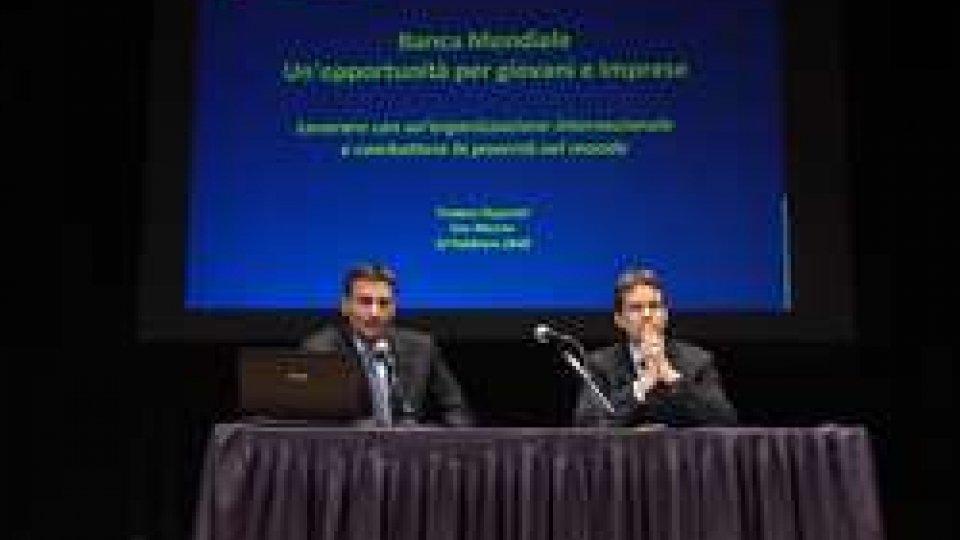 Seminario Banca mondialeSviluppo: opportunità per giovani e imprese sammarinesi nel seminario sulla Banca Mondiale
