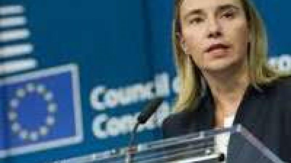 """Il ministro Mogherini in missione in Ucraina: """"L'unione Europea resterà unita nella sua posizione"""""""