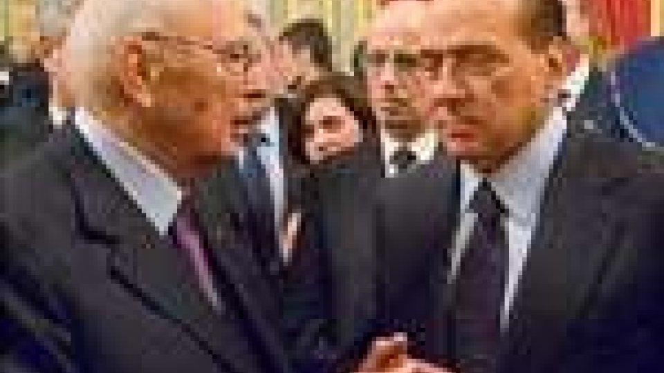 """Napolitano: dimissioni premier certe. """"O nuovo governo, o subito al voto"""""""