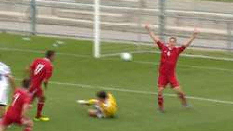 il gol unghereseRegions'Cup: Ungheria San Marino 2-1