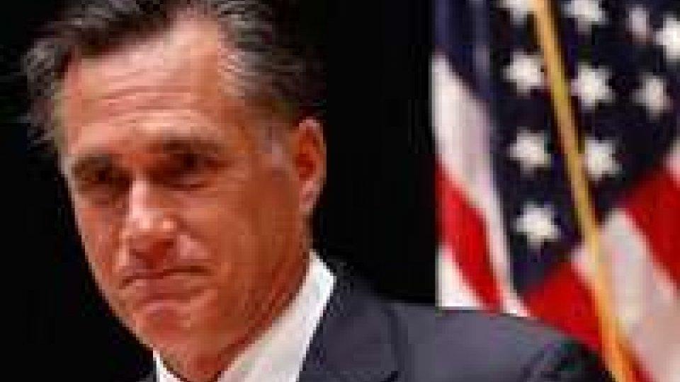 Usa 2012. Romney fa un passo indietro
