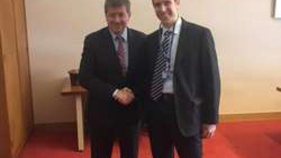 Andrea Zafferani con il Direttore Generale Oil, Guy Ryder