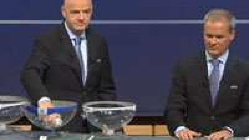 Sorteggi europei : difficile  Napoli, facile Inter e Torino.Sorteggi europei : difficile  Napoli, facile Inter e Torino.
