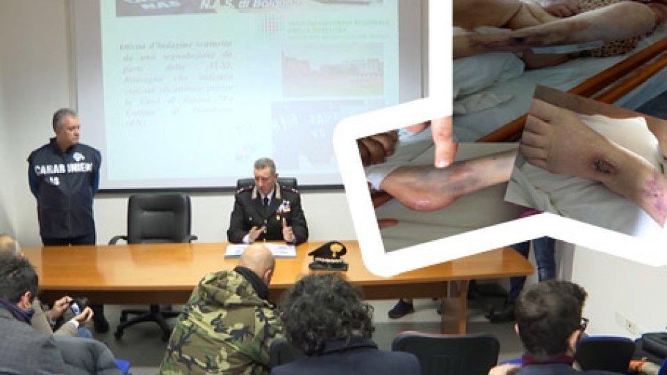 """I Carabinieri illustrano l'operazioneAnziani picchiati, sedati e in pessime condizioni igieniche: sequestrata a Mondaino la casa di risposo """"La Collina"""""""