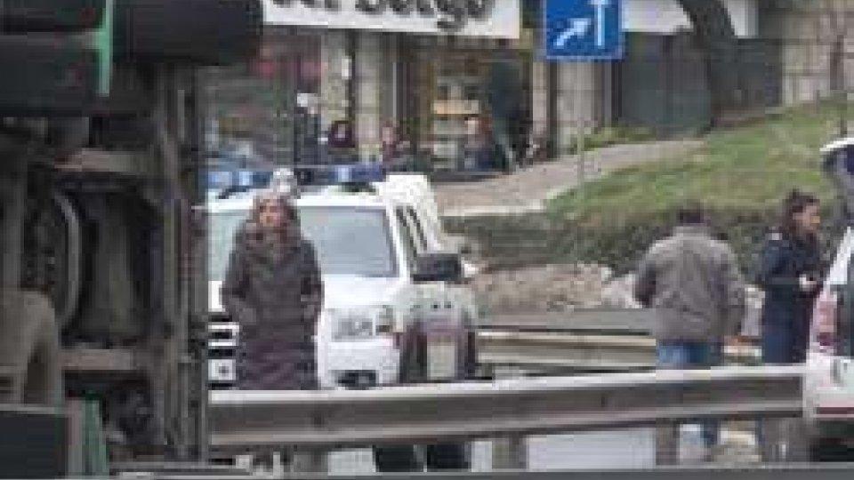 La Comandante Vicini sulla scena dell'incidente