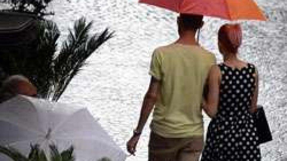 allerta per pioggia e temporali in Romagna