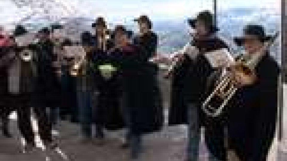 """San Marino - I """"Pasquellari"""" della Banda militare annunciado la venuta del Messia"""