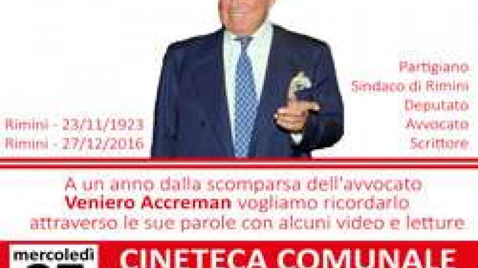 Anpi Rimini ricorda Veniero Accreman
