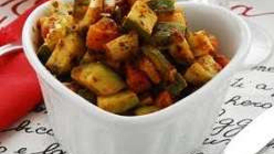 Cucina Veg: RATATUIA DI FRIGGITELLI E MANDORLE TOSTATE