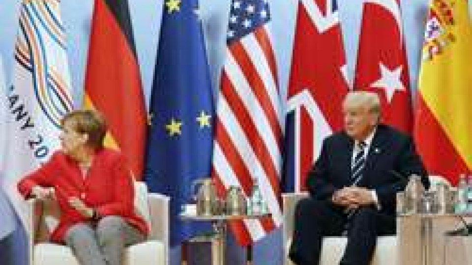 Merkel e TrumpG20 Amburgo, tensioni per il summit dei grandi della Terra