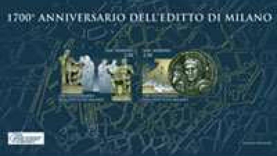 Emissione filatelica: 1700° Anniversario dell'editto di Milano
