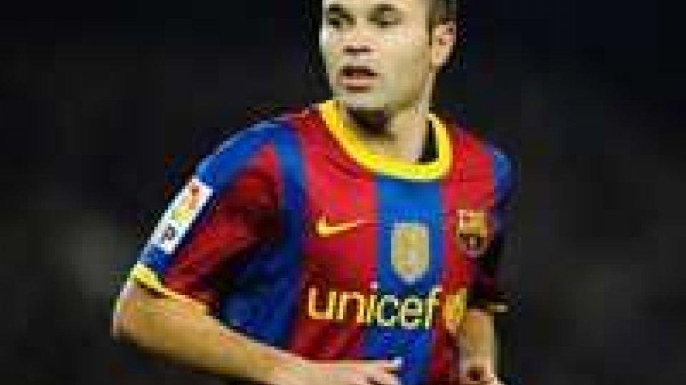 Iniesta rinnova con il Barcellona fino al 2018