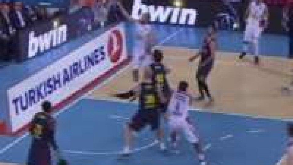 Olympiacos corsaro a Barcellona, il Real vince col brividoOlympiacos corsaro a Barcellona, il Real vince col brivido