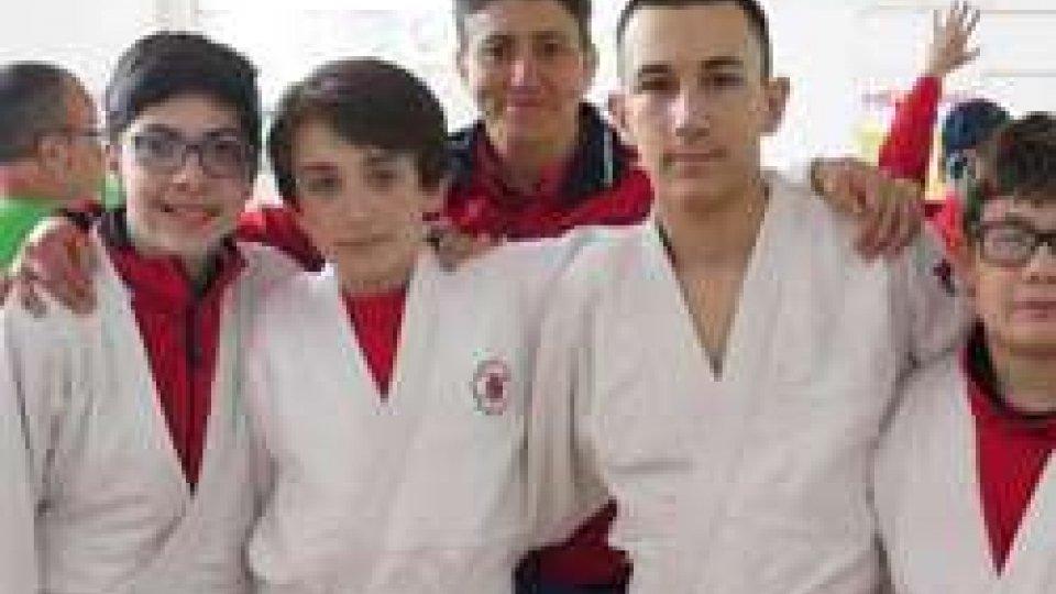 Tutti a podio gli atleti della Sakura Judo San Marino Asd