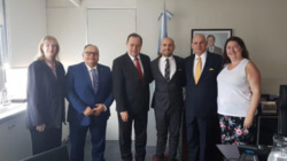 Prosegue la Missione istituzionale in Argentina del segretario di Stato Franco Santi