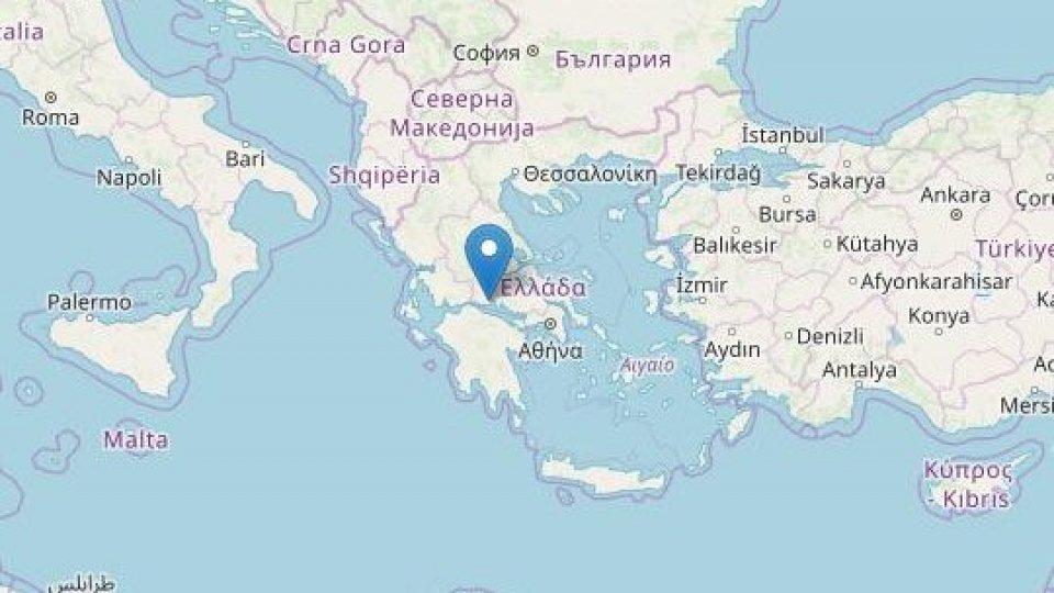 Terremoto in Grecia di Magnitudo 5.3 ad una profondità di 20 km
