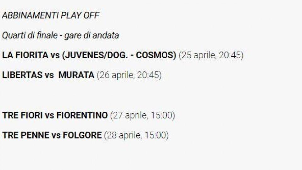 Campionato: ecco gli abbinamenti dei play off
