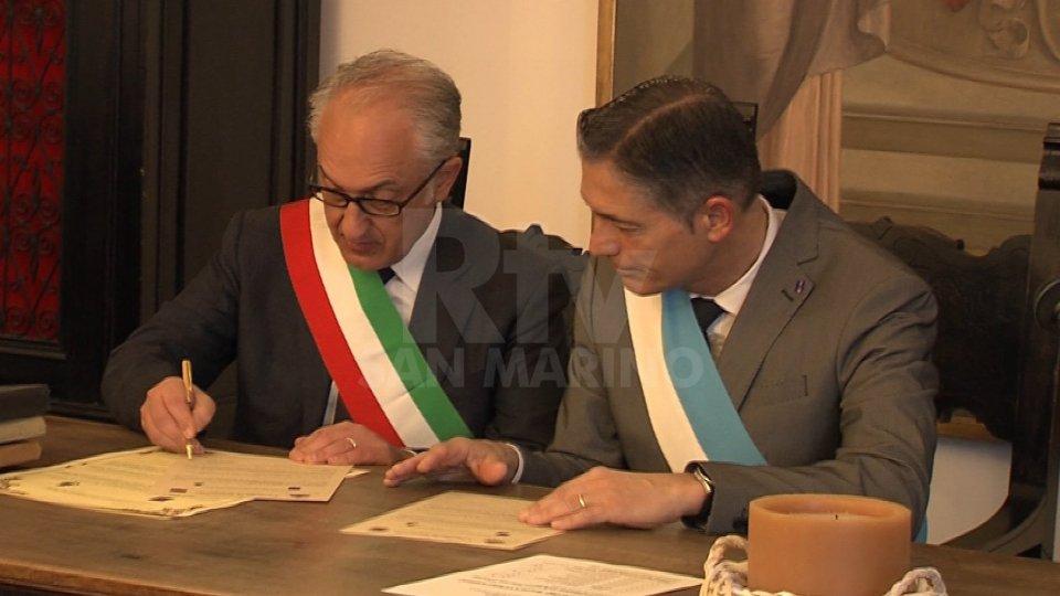 Il gemellaggio tra Serravalle e CasertaFirmato il gemellaggio tra Serravalle e Caserta
