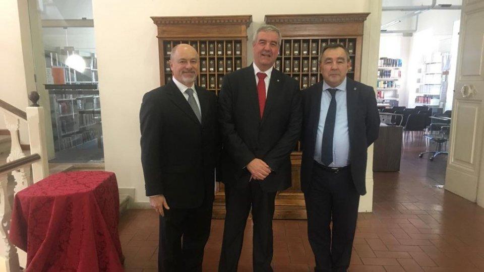 Capo della Protezione Civile Italiana dott. Angelo Borrelli, alla Cerimonia d'insediamento degli Eccellentissimi Capitani Reggenti
