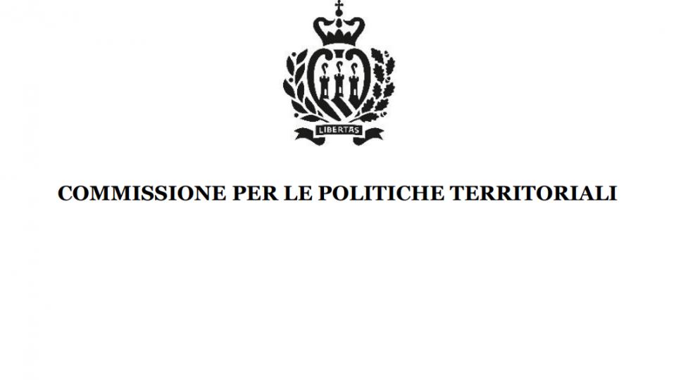 Commissione Politiche Territoriali: Variante Piano Particolareggiato della zona APSA 1