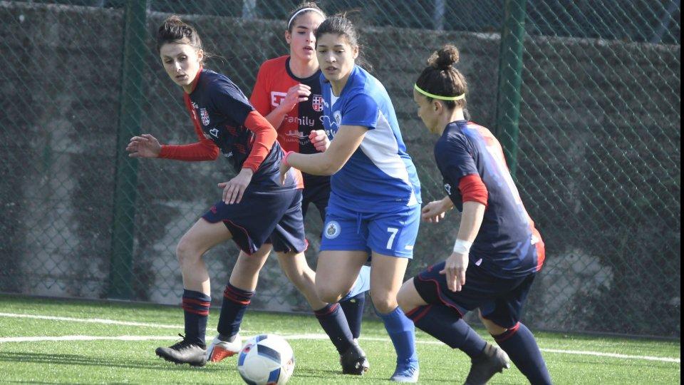 Giulia Baldini, attaccante San Marino Academy. Foto: FSGC