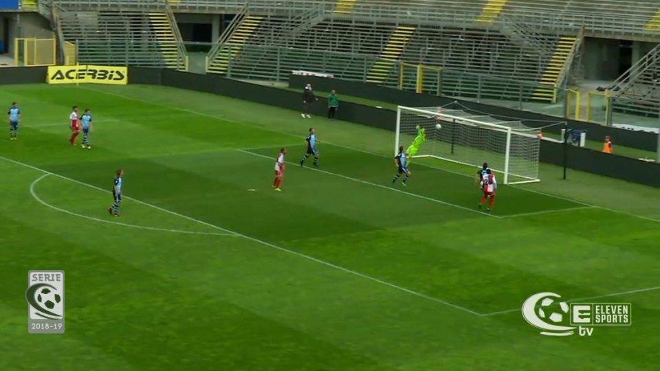 Albinoleffe – Rimini 1-1Il Rimini accarezza fino a 10 minuti dalla fine la prima vittoria dell'era Petrone, ma Kouko spegne gli entusiasmi e pareggia per l'Albinoleffe.