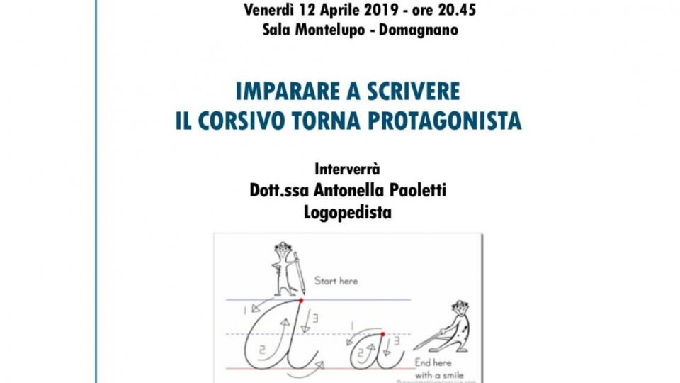 """Dislessia: il 12 aprile la conferenza pubblica con Antonella Paoletti su """"Imparare a scrivere. Il corsivo torna protagonista"""""""