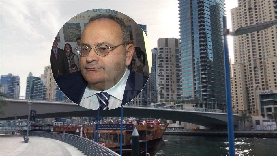 Nel tondino, Mauro Maiani (ambasciatore di San Marino negli Emirati Arabi)Al via la campagna internazionale per Expo 2020 Dubai