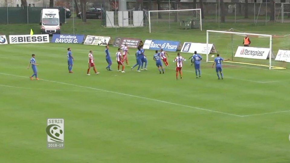 Vis Pesaro - Fano 1-0La Vis Pesaro 1-0 al Fano, il derby è biancorosso dopo 20 anni