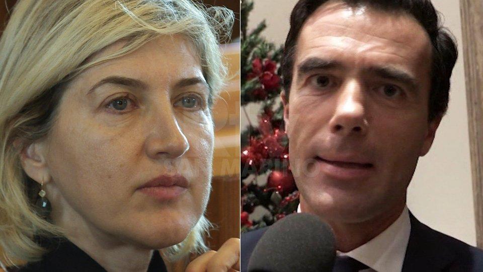 """Catia Tomasetti e Sandro GoziConsulenza """"fantasma"""": indagati Catia Tomasetti e Sandro Gozi"""